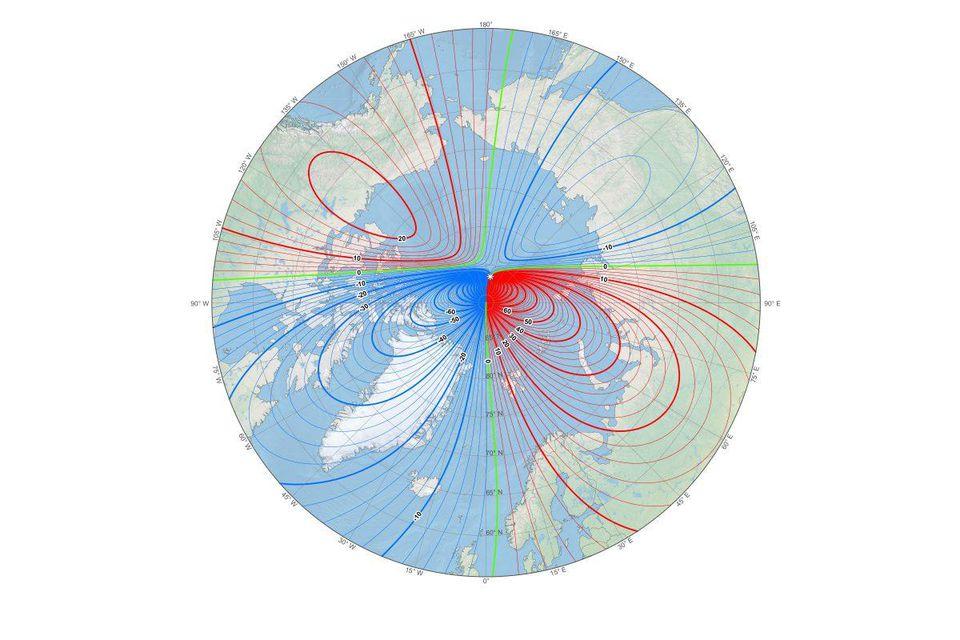 מה ההבדל בין צפון אמיתי (גאוגרפי) לצפון מגנטי