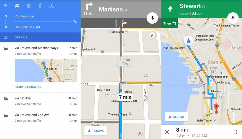 מה ההבדל בין גוגל מפות לגוגל earth?